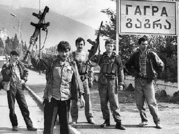 Abkhazian civil war
