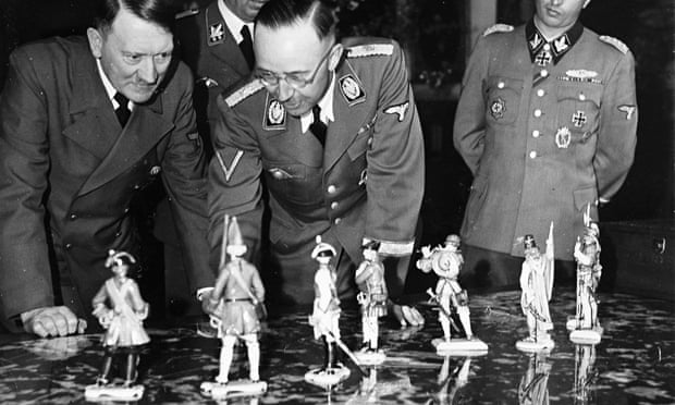 Hitler and Himmler looking at Allach