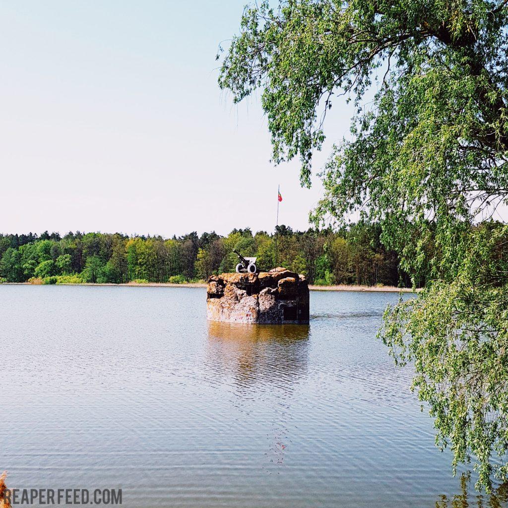 Destroyed soviet bunker