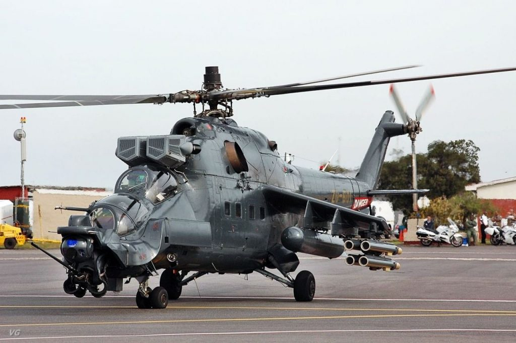 South African Superhind Mi-24 Helicopter Gunship