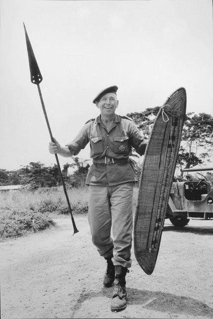 Siegfried Müller in African dress