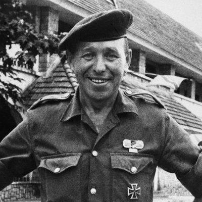 Siegfried Müller in uniform with iron cross