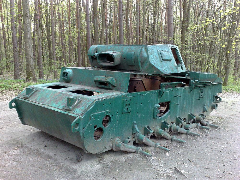 Abandoned German Panzer in Ukraine WW2 sights