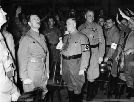 Ulrich Graf and Hitler at party rally