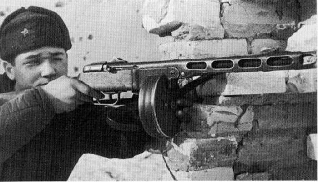 Russian Soldier with PPSh 41
