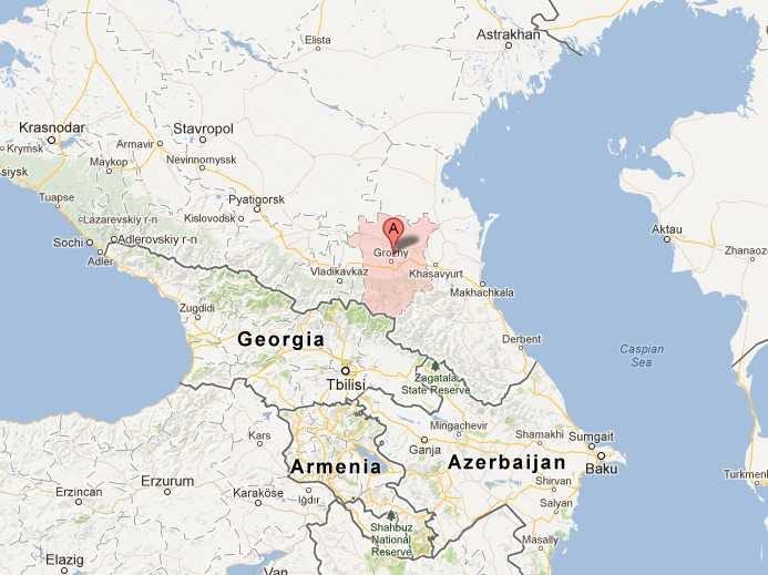 map of chechnya