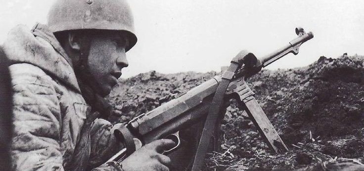 German Paratrooper with MP40