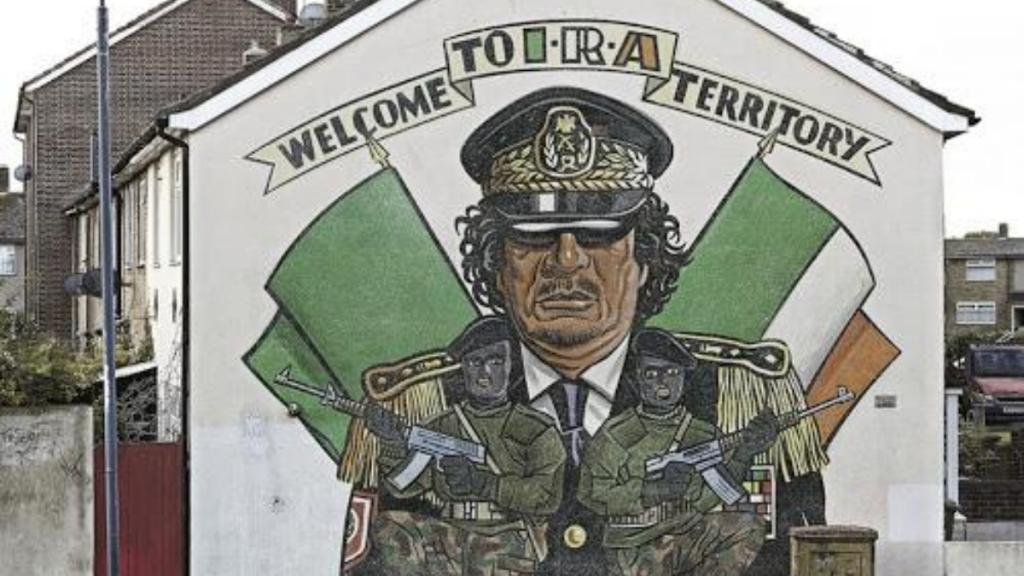 Gadaffi Mural in Belfast