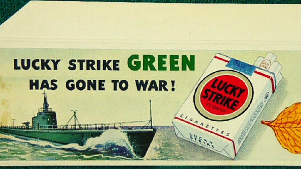 Cigarette ad in WW2