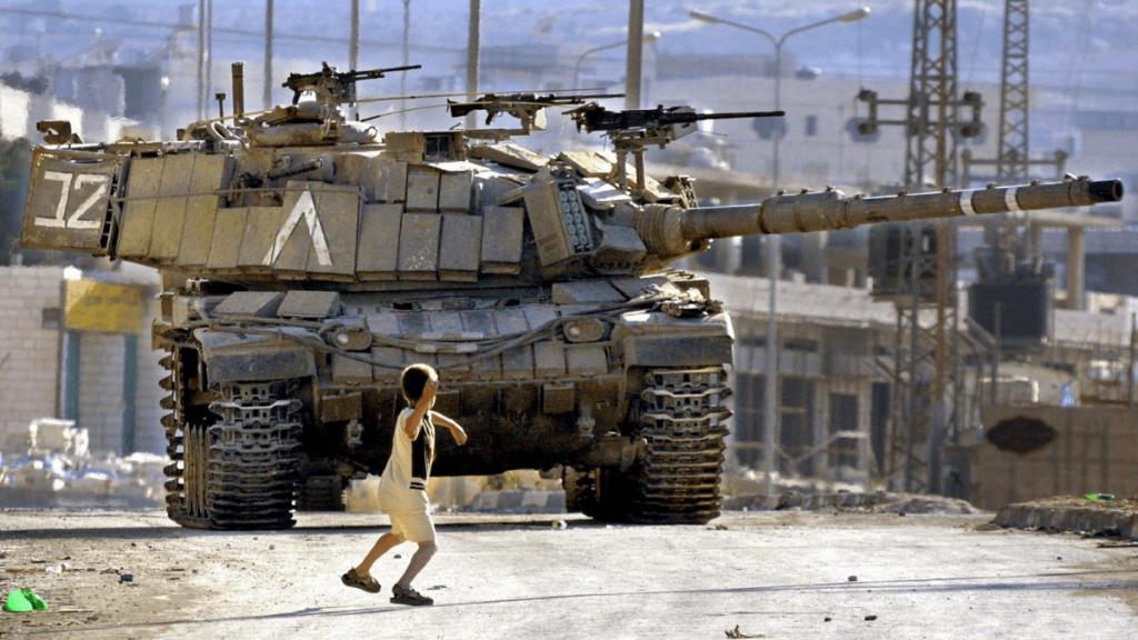 Israeli Magach 6 with explosive reactive armor.