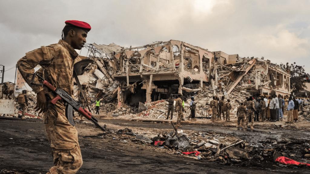 War in Mogadishu somalia black hawk down