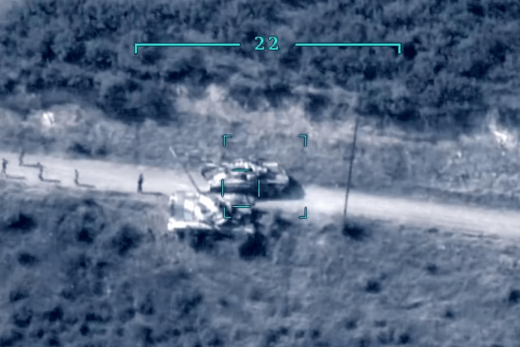 Selfie Stick Captures Azeri T-72 and Infantry Eviscerated by RPG